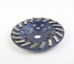 double turbo diamond cup wheel for concrete grinding