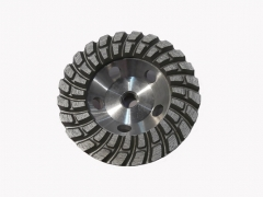 Aluminum backdiamond cup wheel for concrete grinding