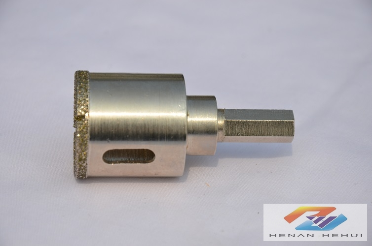 electroplating diamond hole saw for ceramic-hex shank
