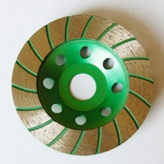 turbo diamond cup wheel for stone
