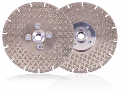 electroplating diamond cutting disc with triangle surface