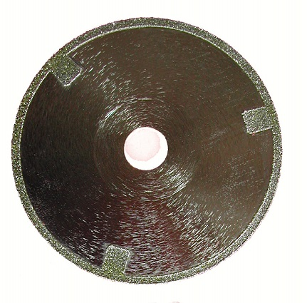 electroplating diamond cutting disc with protection segment