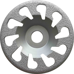 spiral vacuum brazing diamond cup wheel for concrete grinding