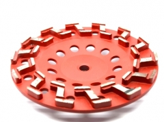 S-seg diamond cup wheel for concrete floor grinding