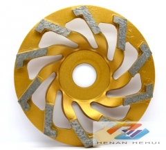 metal bond diamond cup wheel for concrete floor grinding
