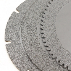 Vauum brazing continuous saw blade for stone